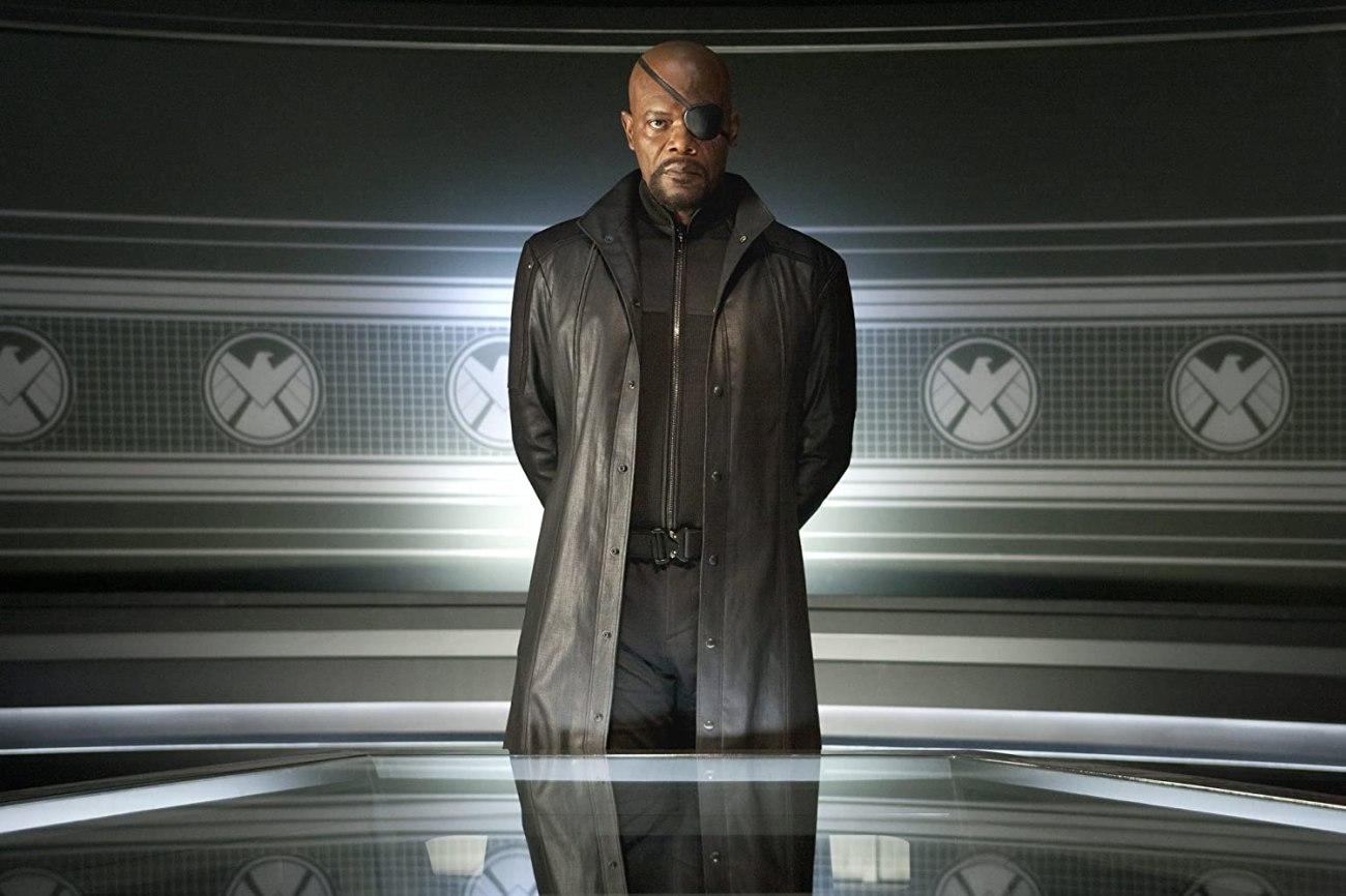 Samuel L. Jackson como Nick Fury en The Avengers (2012). Imagen: Zade Rosenthal/Marvel Studios