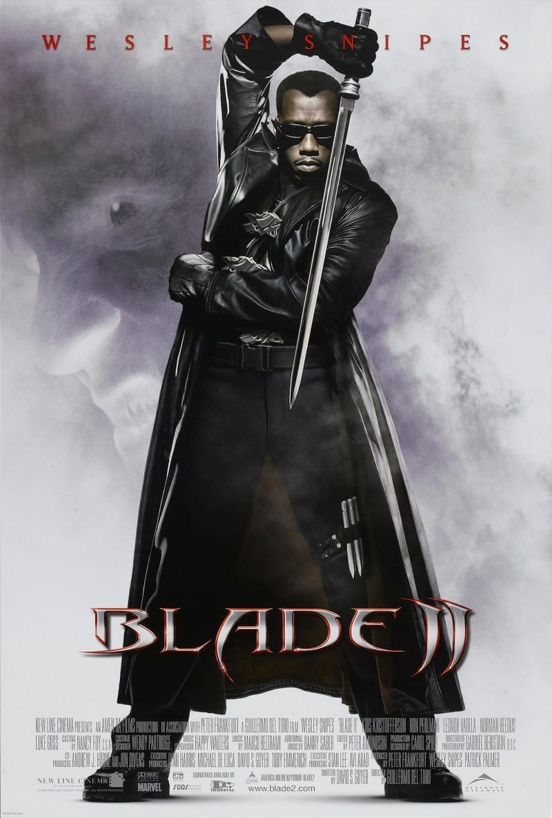 Wesley Snipes como Blade/Eric Brooks en un póster de Blade II (2002). Imagen: IMDb.com