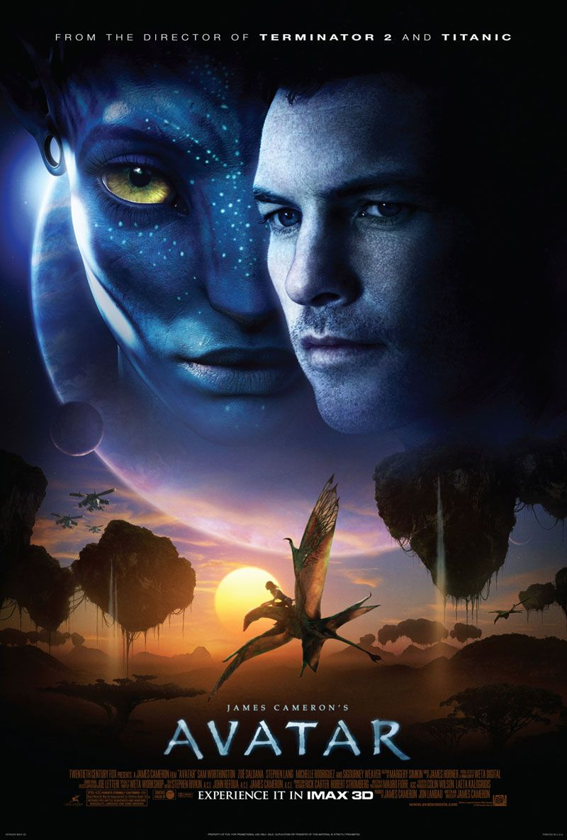 Póster de Avatar (2009). Imagen: impawards.com