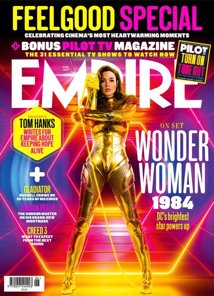 Wonder Woman (Gal Gadot) en la portada de Empire (junio de 2020). Imagen: Empire Magazine