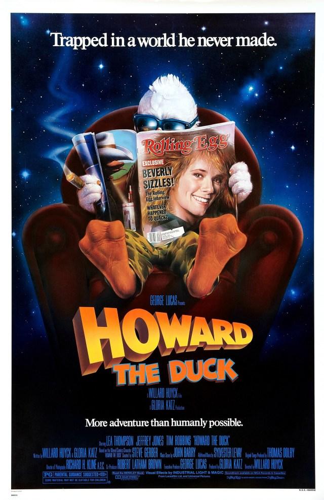 Póster de Howard the Duck (1986). Imagen: impawards.com