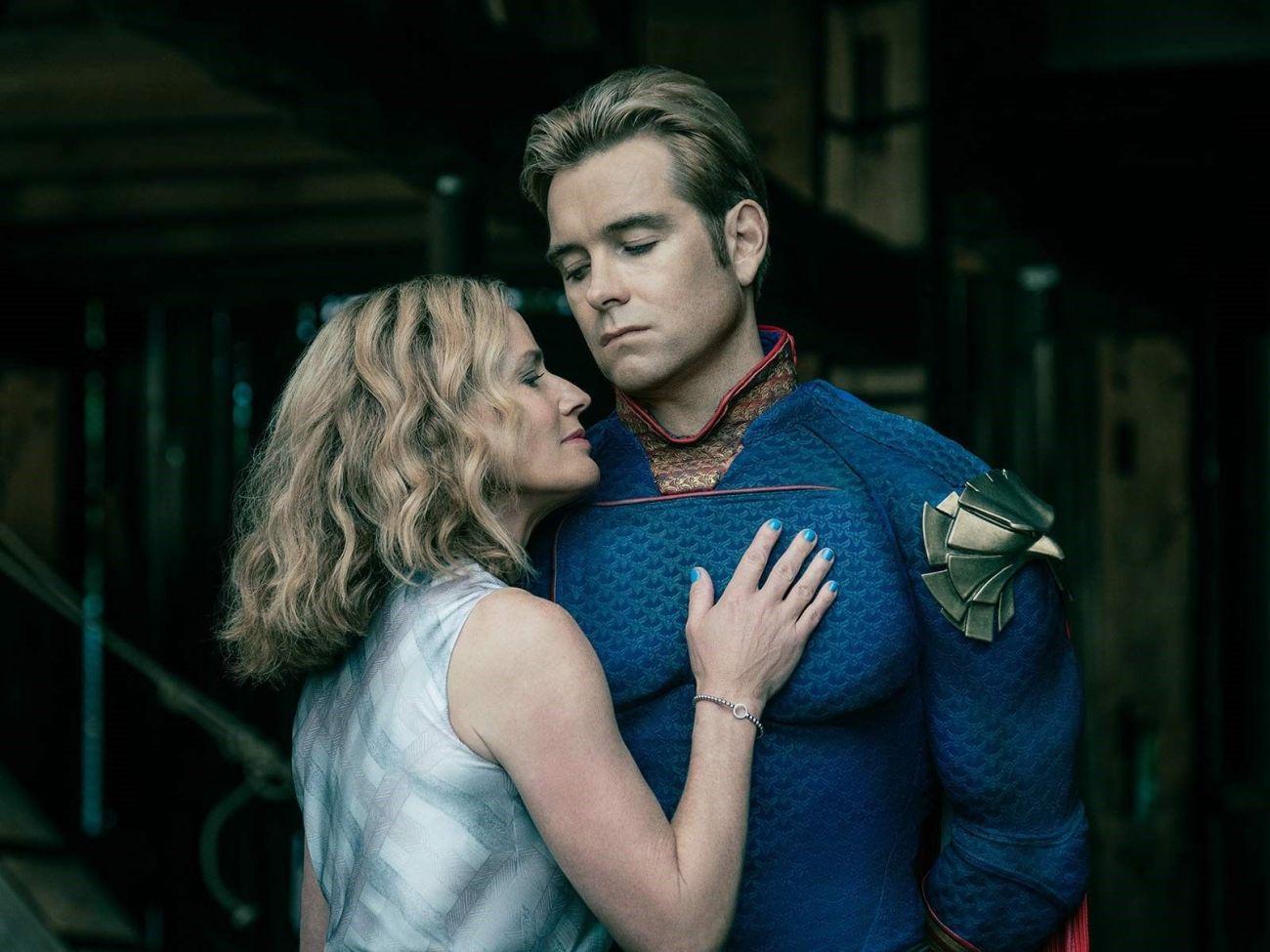 Madelyn Stillwell (Elisabeth Shue) y Homelander (Antony Starr) en la temporada 1 de The Boys. Imagen: pinterest.com