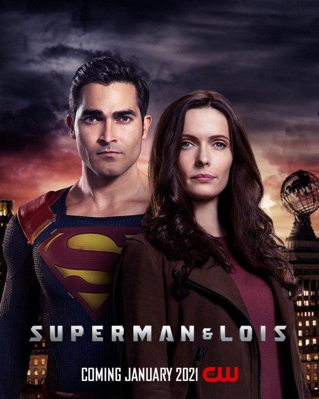 Superman (Tyler Hoechlin) y Lois Lane (Elizabeth Tulloch) en un póster de Superman & Lois. Enero de 2021. Imagen: Superman and Lois Twitter (@cwsupemanandlois).