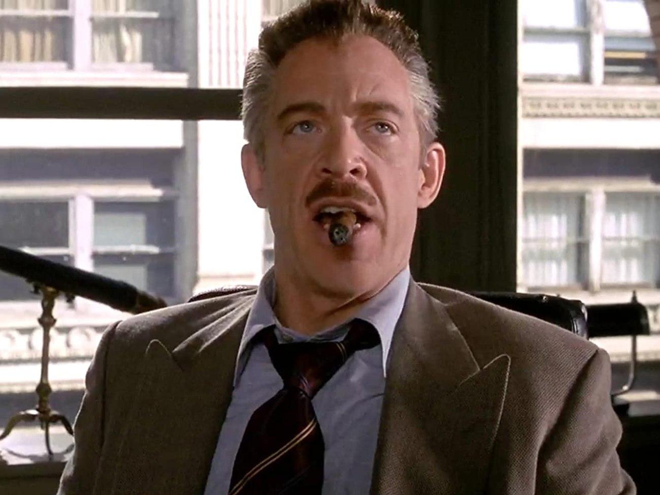 J. Jonah Jameson (J.K. Simmons) en Spider-Man (2002). Imagen: IMDb.com