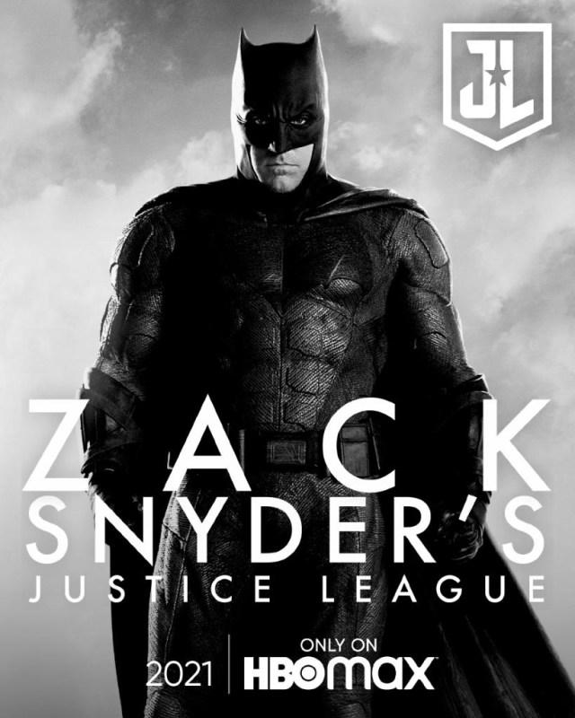 Batman (Ben Affleck) en un póster del Snyder Cut de Justice League (2017). Imagen: sneakpeek.ca