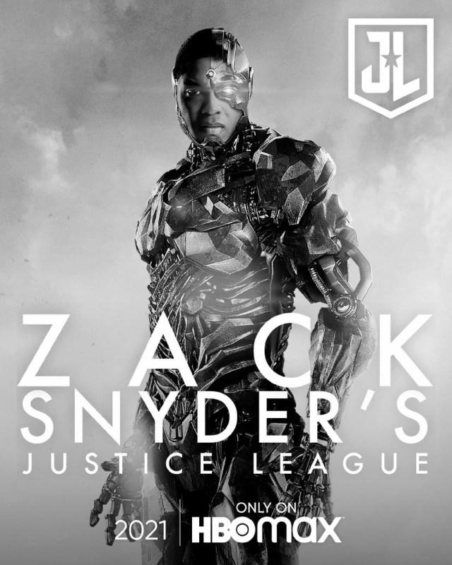 Cyborg (Ray Fisher) en un póster del Snyder Cut de Justice League (2017). Imagen: sneakpeek.ca