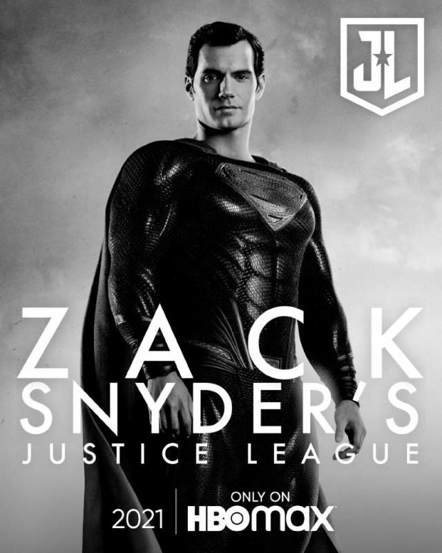 Superman (Henry Cavill) en un póster del Snyder Cut de Justice League (2017). Imagen: sneakpeek.ca