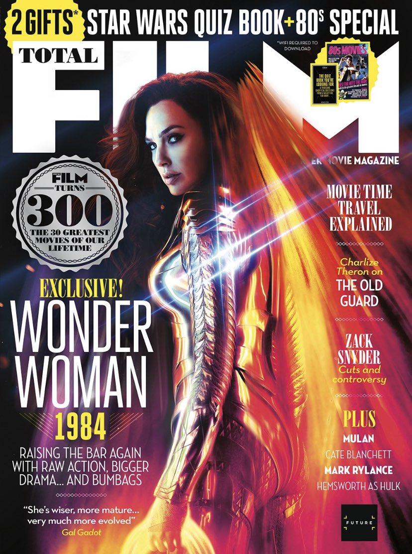 Gal Gadot como Wonder Woman en la portada de Total Film. Imagen: Gal Gadot Twitter (@GalGadot).