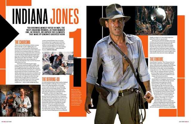 Harrison Ford como Indiana Jones en Empire (julio de 2020). Imagen: Empire Magazine