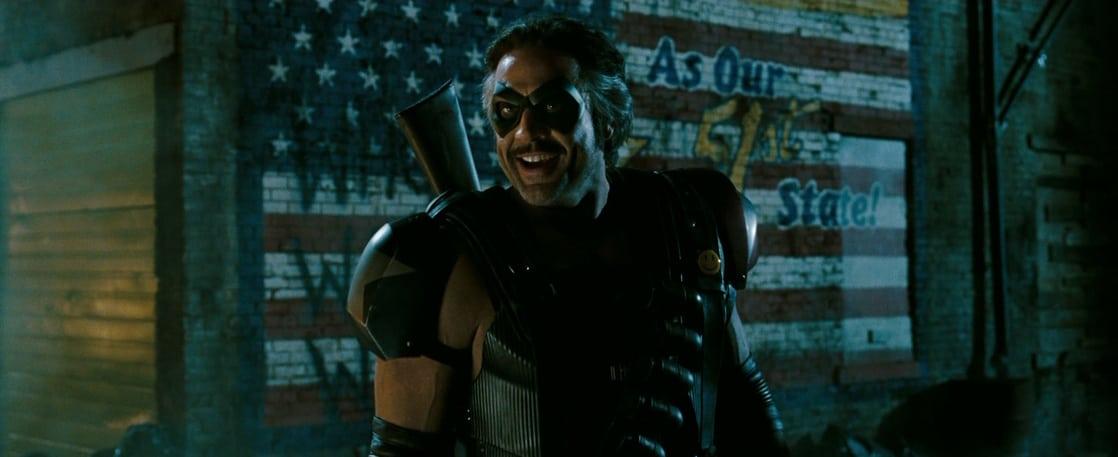 Jeffrey Dean Morgan como The Comedian/Eddie Blake en Watchmen (2009). Imagen: listal.com