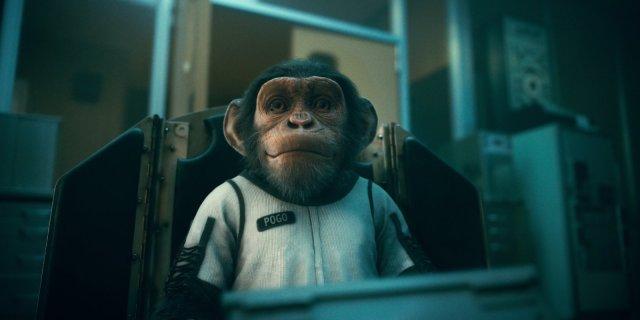Baby Pogo en la temporada 2 de The Umbrella Academy. Imagen: Netflix Twitter (@netflix).