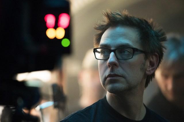 El director/guionista James Gunn en el set de Guardians of the Galaxy (2014). Imagen: Marvel Studios