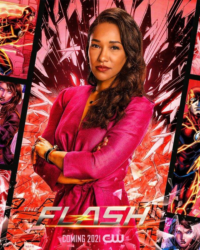 Iris West-Allen (Candice Patton) en un póster de The Flash. Cortesia: The Flash Twitter (@CW_TheFlash).