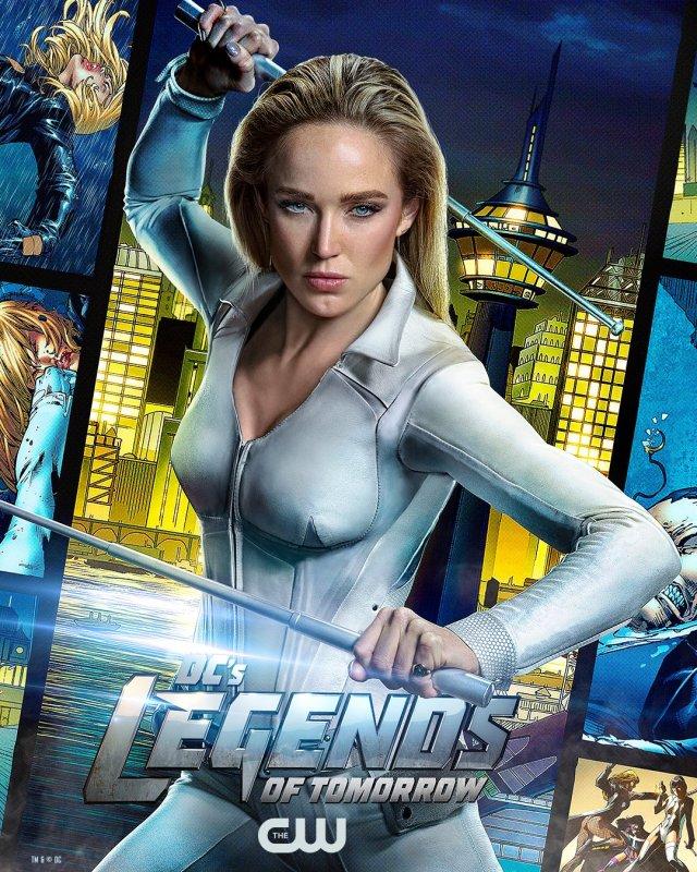 White Canary (Caity Lotz) en un póster de DC's Legends of Tomorrow. Imagen: DC's Legends of Tomorrow (@thecw_legends).
