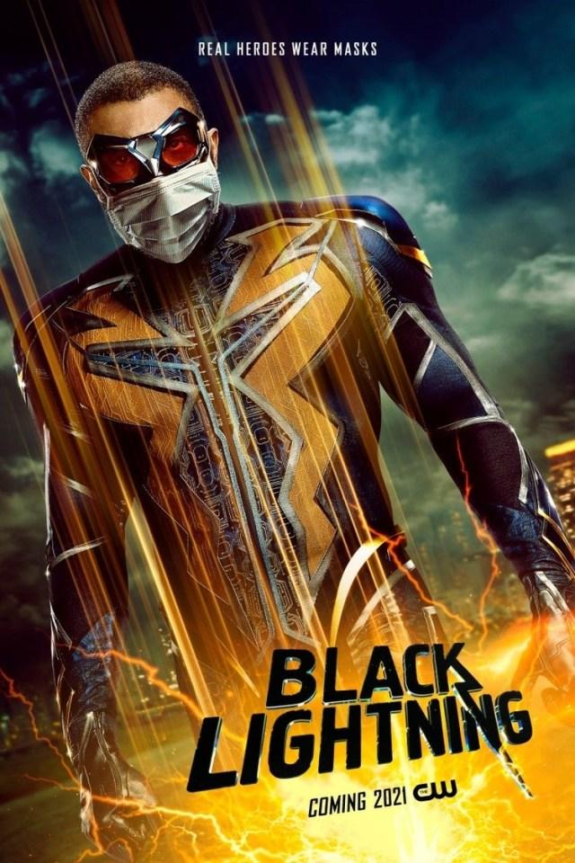 Black Lightning (Cress Williams) en un póster de Black Lightning. Imagen: impawards.com