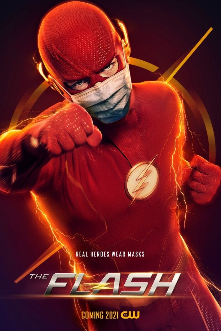 Flash (Grant Gustin) en un póster de The Flash. Imagen: impawards.com