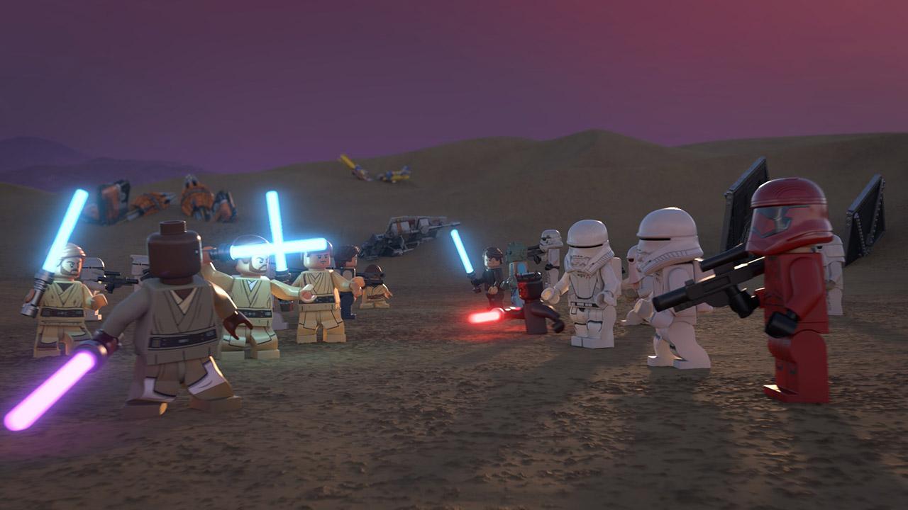 Héroes y villanos en The LEGO Star Wars Holiday Special (2020). Imagen: StarWars.com