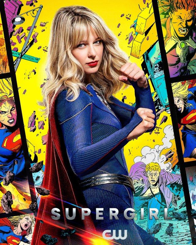 Melisa Benoist como Supergirl/Kara Zor-El/Kara Danvers en un póster de la temporada 6 de Supergirl. Imagen: SpoilerTV