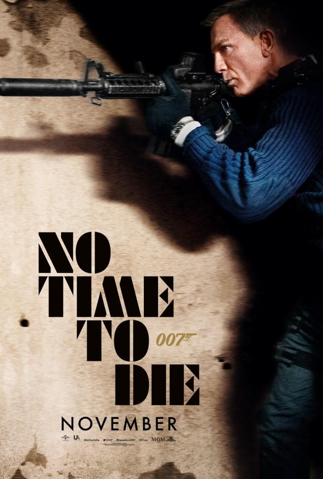 Póster de No Time to Die (2020). Imagen: James Bond Twitter (@007).