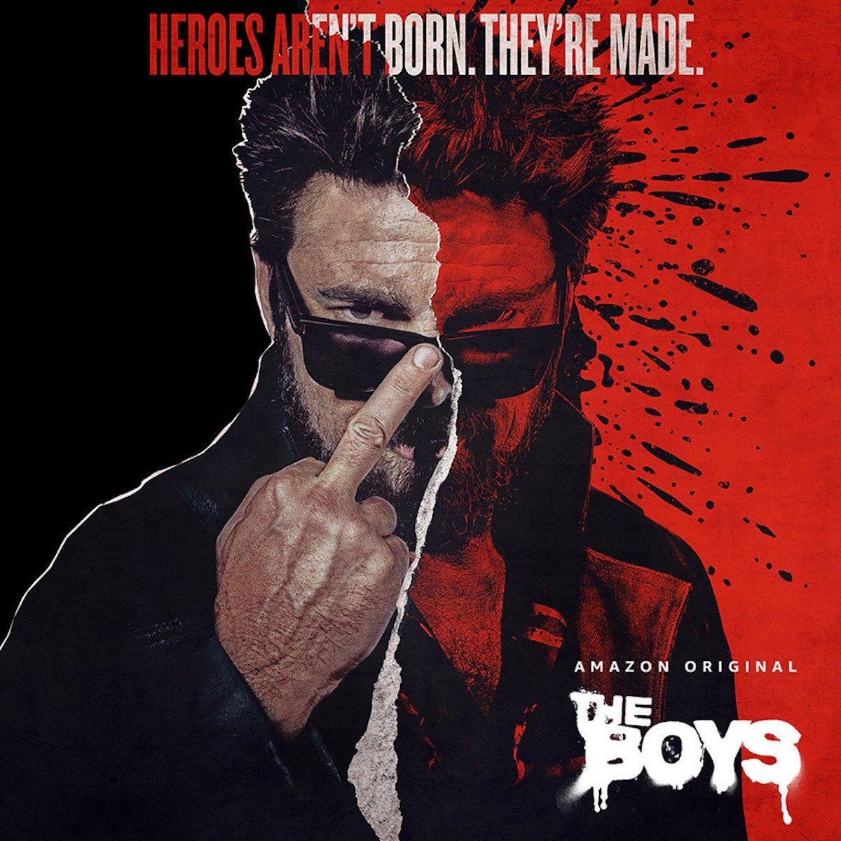 Billy Butcher (Karl Urban) en un póster de la temporada 2 de The Boys. Imagen: impawards.com