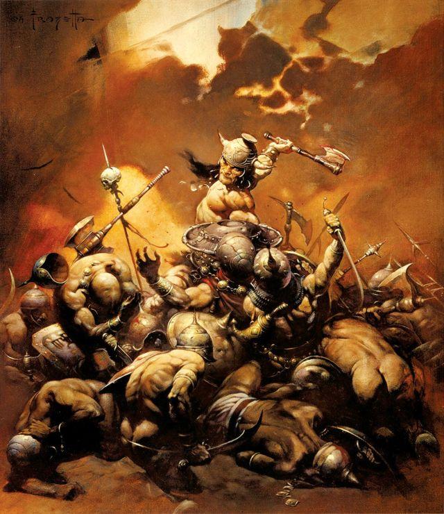 Conan the Destroyer (1971) por el artista Frank Frazetta (1928-2010). Imagen: pinterest.com