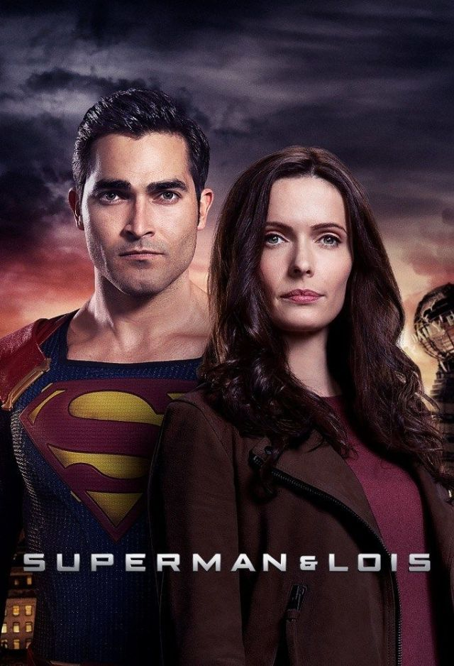 Superman (Tyler Hoechlin) y Lois Lane (Elizabeth Tulloch) en arte promocional de Superman & Lois. Imagen: pinterest.com