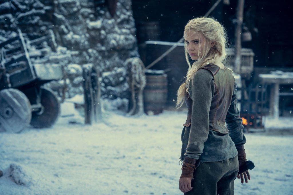 Freya Allan como Cirilla de Cintra en la temporada 2 de The Witcher. Imagen: TheNXorcist Twitter (@NXOnNetflix).