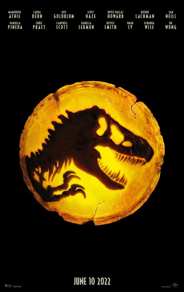 Póster de Jurassic World: Dominion (2022). Imagen: Universal Pictures Twitter (@UniversalPics).