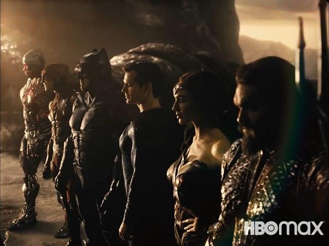 Cyborg (Ray Fisher), Flash (Ezra Miller), Batman (Ben Affleck), Superman (Henry Cavill), Wonder Woman (Gal Gadot) y Aquaman (Jason Momoa) en Zack Snyder's Justice League (2021). Imagen: HBO Max