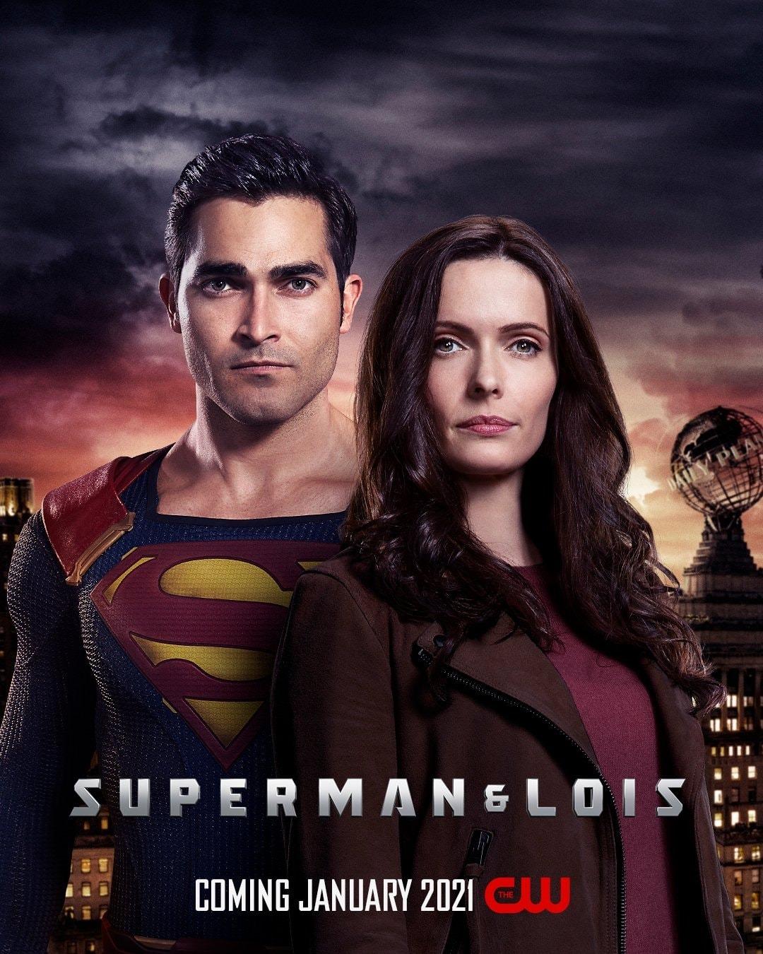 Superman (Tyler Hoechlin) y Lois Lane (Elizabeth Tullock) en un póster de Superman & Lois. Imagen: impawards.com
