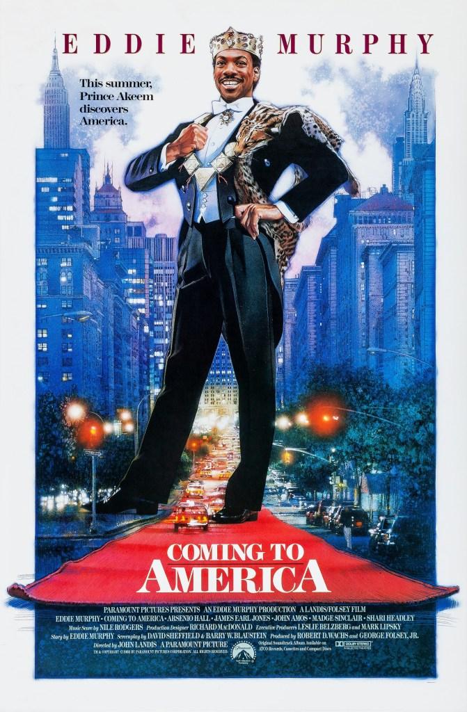 Póster de Coming to America (1988). Arte por Drew Struzan. Imagen: impawards.com