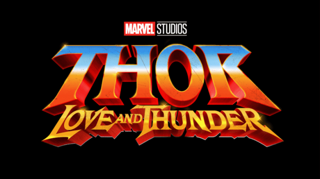 Logotipo de Thor: Love and Thunder (2022). Imagen: Marvel.com