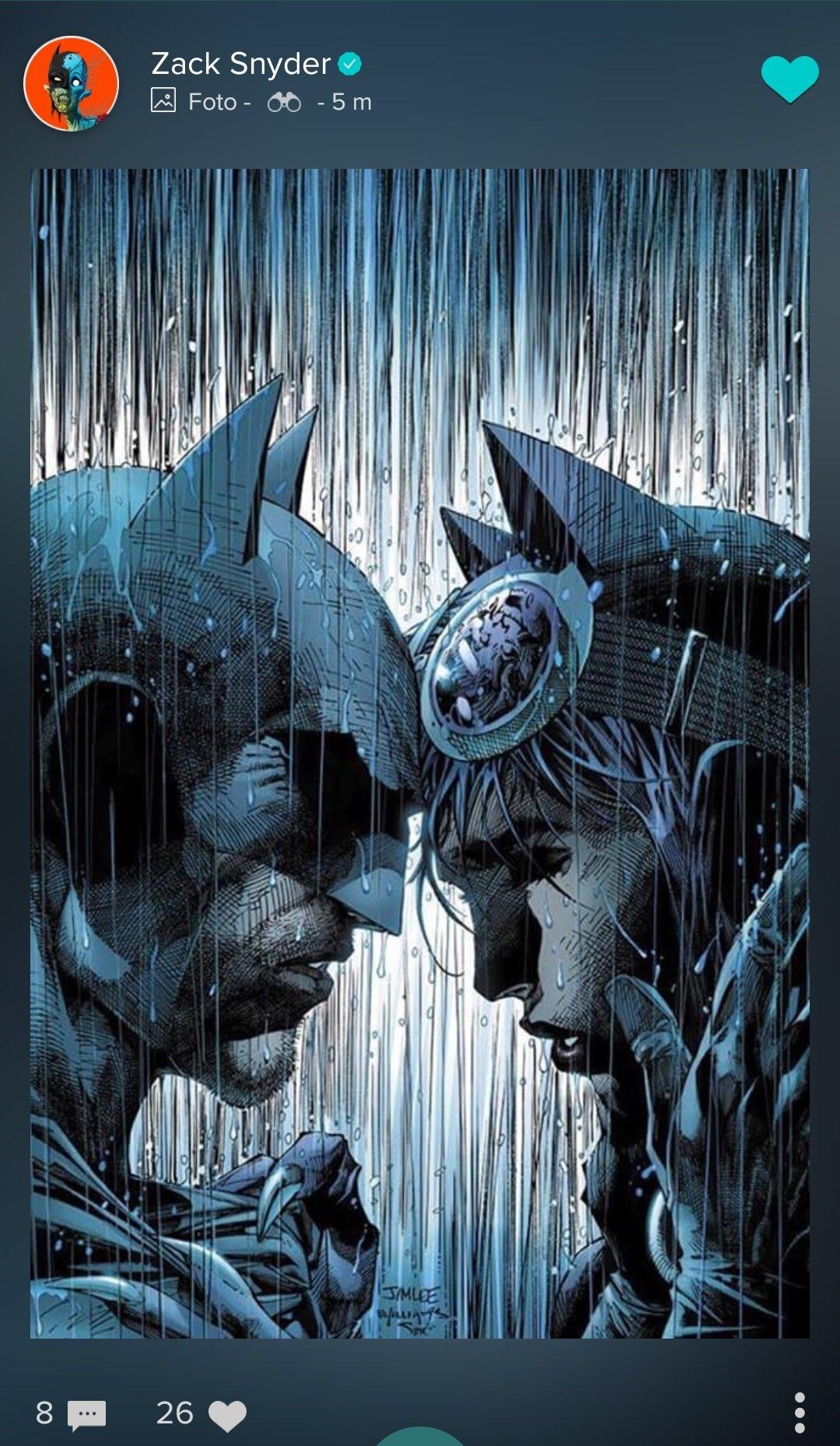 Portada variante de Batman #50 (septiembre de 2018) en la cuenta de Vero del director Zack Snyder. Arte por Jim Lee y Scott Williams. Imagen: DC Cinematic Reddit