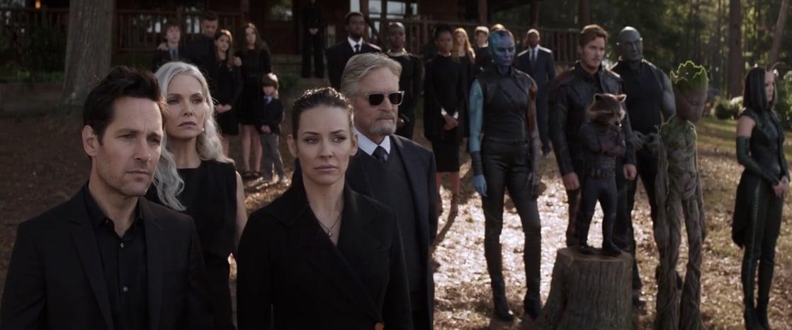 Janet Van Dyne (Michelle Pfeiffer) asistió al funeral de Tony Stark/Iron Man en Avengers: Endgame (2019). Imagen: listal.com