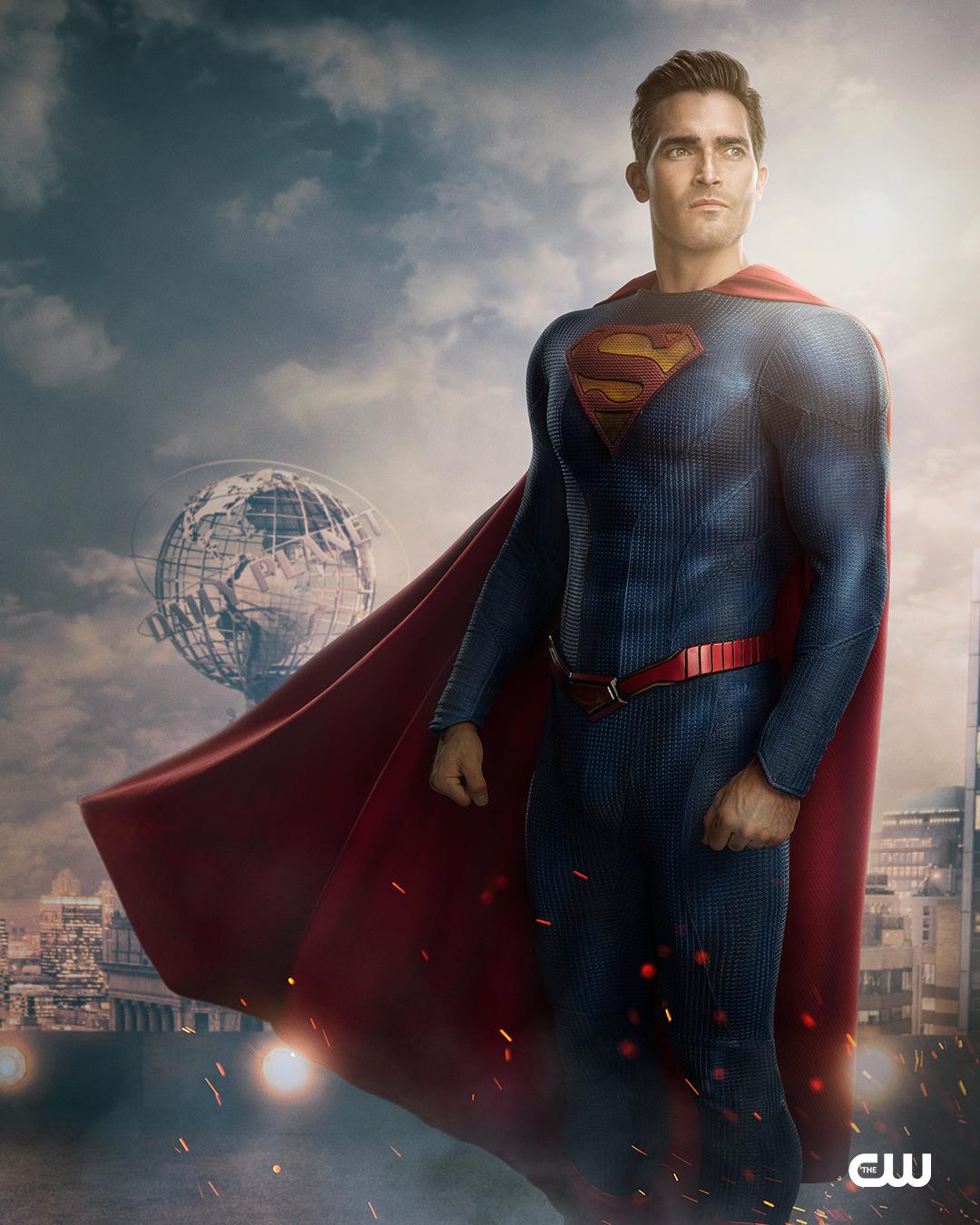 Superman (Tyler Hoechlin) en Superman & Lois. Imagen: Superman and Lois Twitter (@cwsupermanlois).