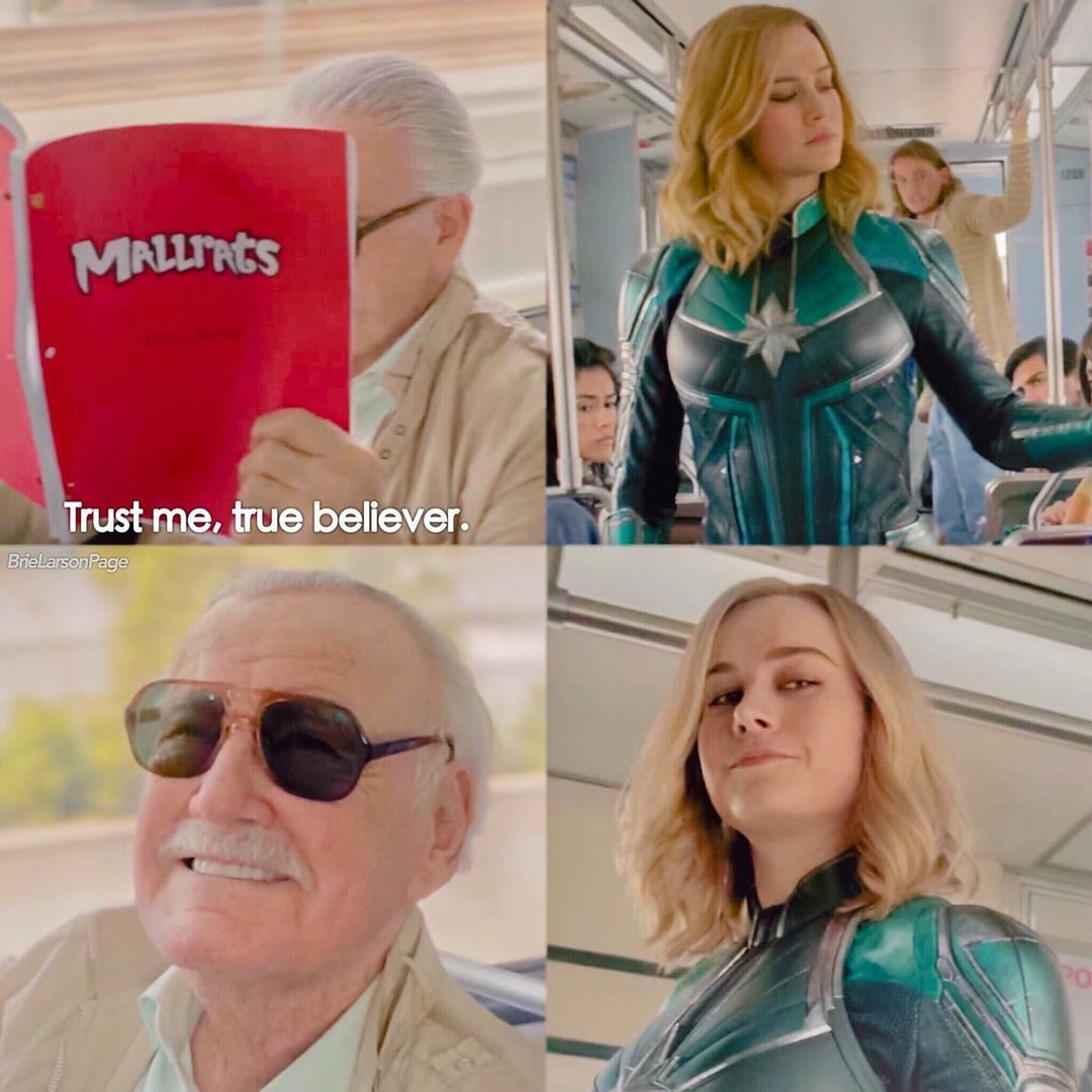 Stan Lee (1922-2018) y el guión de Mallrats (1995) en Captain Marvel (2019). Imagen: pinterest.com