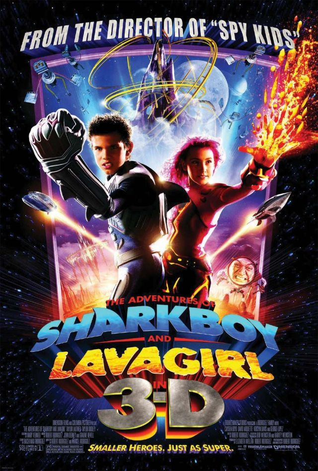 Póster de The Adventures of Sharkboy and Lavagirl in 3-D (2005). Imagen: impawards.com