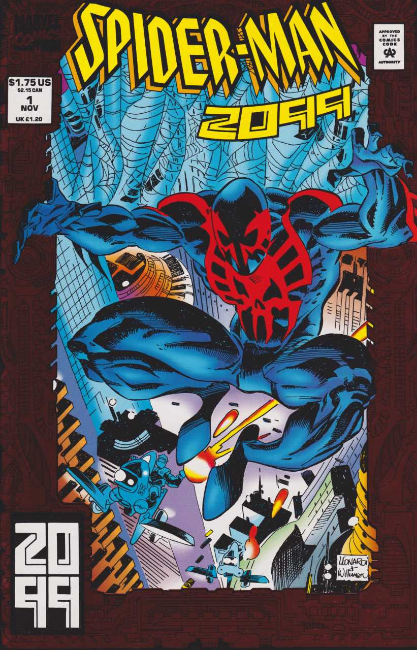 Portada de Spider-Man 2099 #1 (noviembre de 1992). Arte por Rick Leonardi y All Williamson. Imagen: Comic Vine
