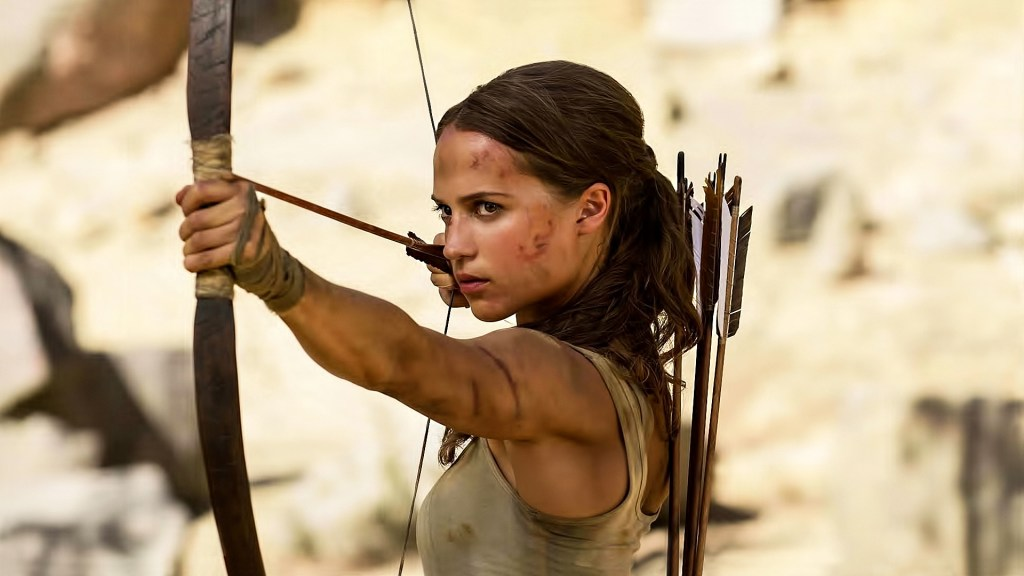 Alicia Vikander como Lara Croft en Tomb Raider (2018). Imagen: fanart.tv