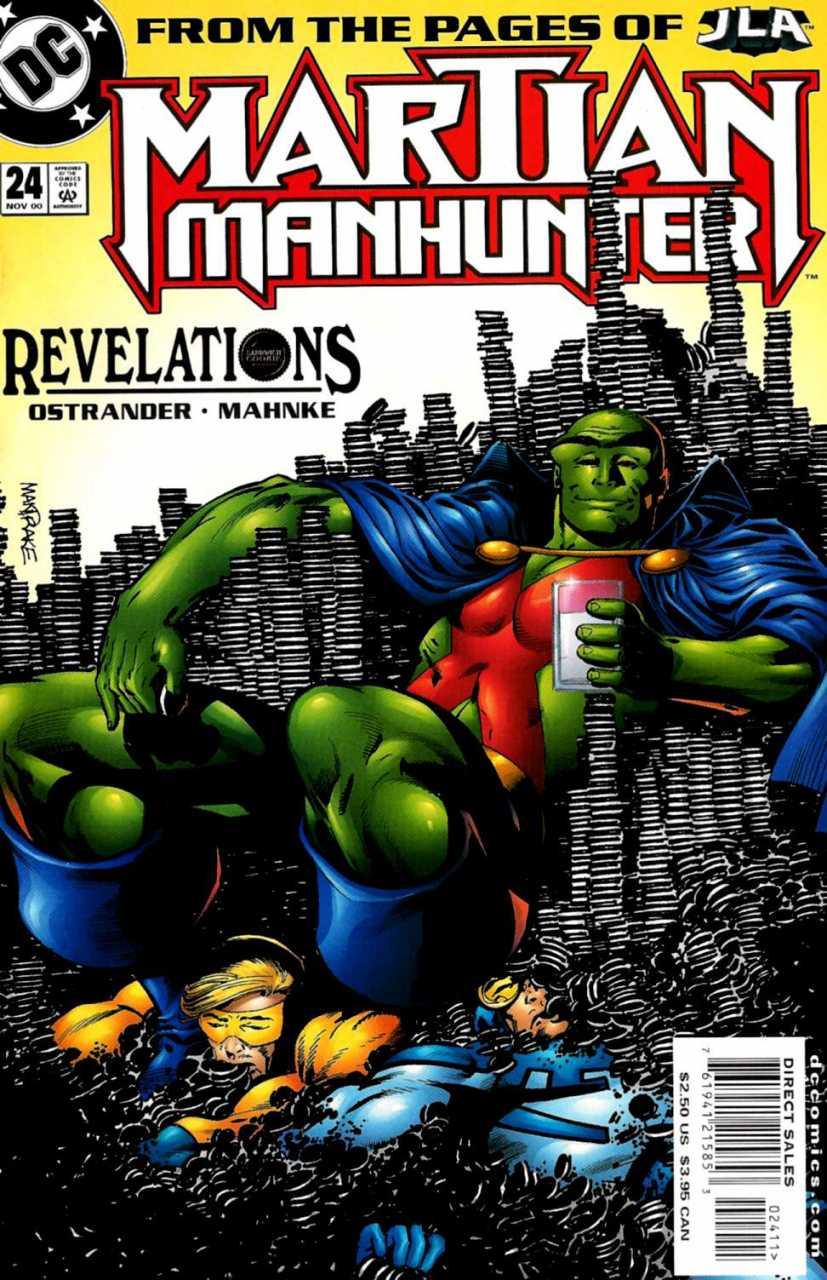 Portada de Martian Manhunter #24 (noviembre de 2000). Arte por Tom Mandrake. Imagen: Comic Vine