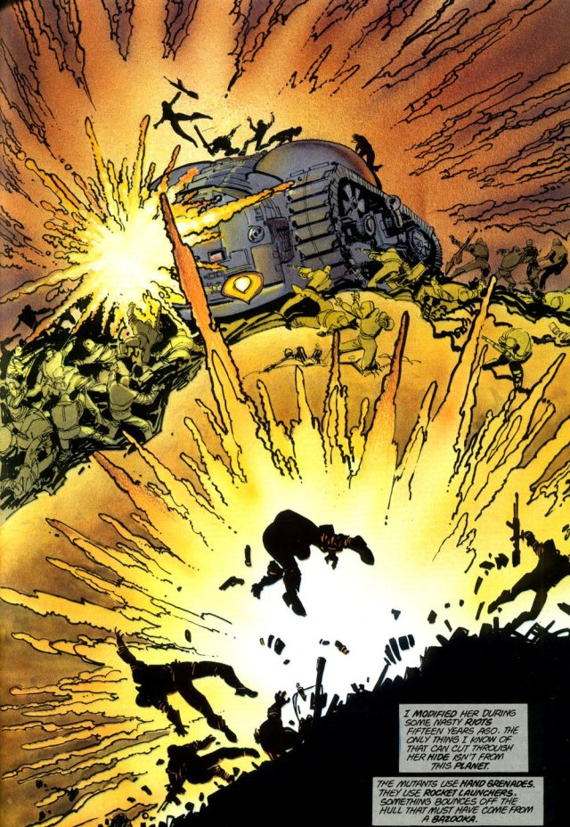 El Batimóvil en Batman: The Dark Knight Returns #2 (julio de 1986). Imagen: Batman CreatorsTwitter (@batcreators).