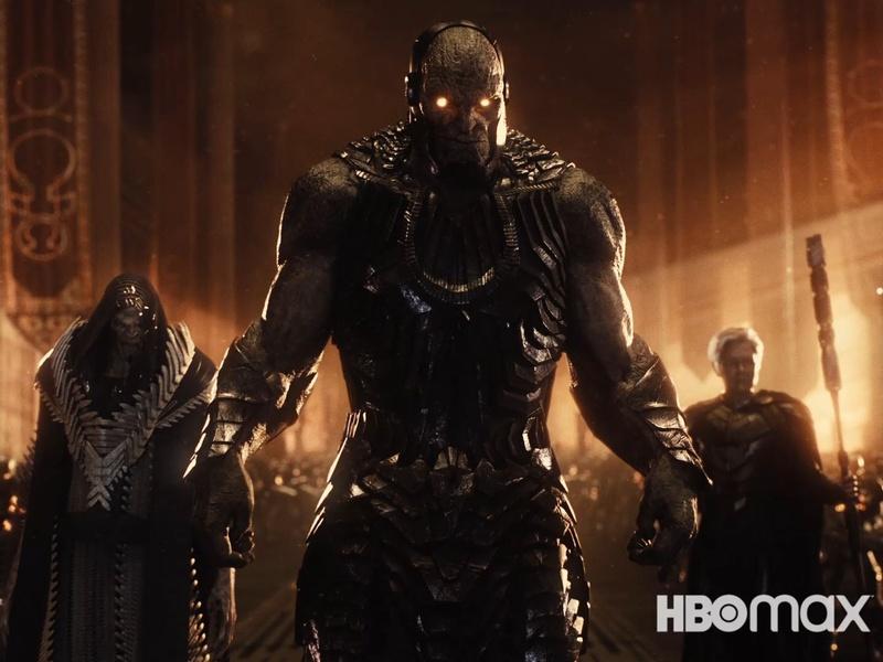 DeSaad (Peter Guinness), Darkseid (Ray Porter) y Granny Goodness en Zack Snyder's Justice League (2021). Imagen: thedirect.com