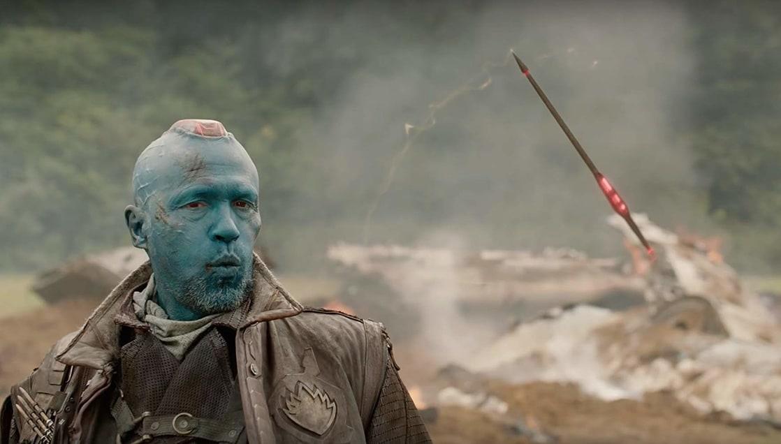 Yondu Udonta (Michael Rooker) controlando su arma en en Guardians of the Galaxy (2014). Imagen: listal.com