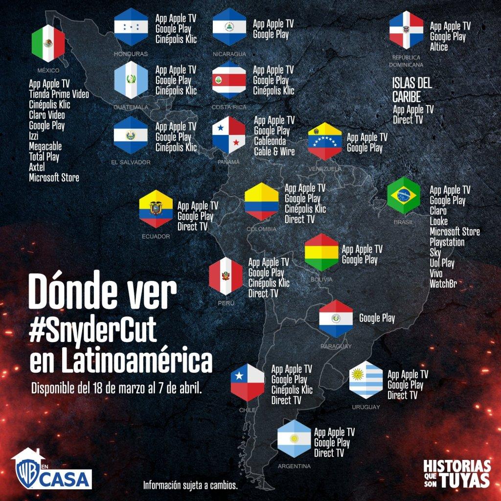 ¿Dónde estará disponible Zack Snyder's Justice League (2021) en Latinoamérica?. Imagen: Warner En Casa Twitter (@WarnerEnCasa).