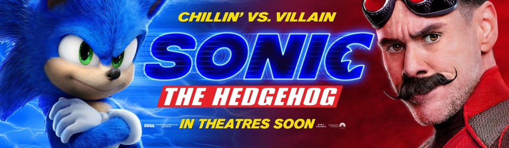 Sonic the Hedgehog (voz de Ben Schwartz) y el Dr. Robotnik (Jim Carrey) en un póster de Sonic the Hedgehog (2020). Imagen: impawards.com