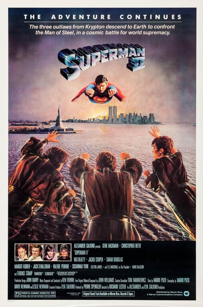 Póster de Superman II (1980). Imagen: impawards.com