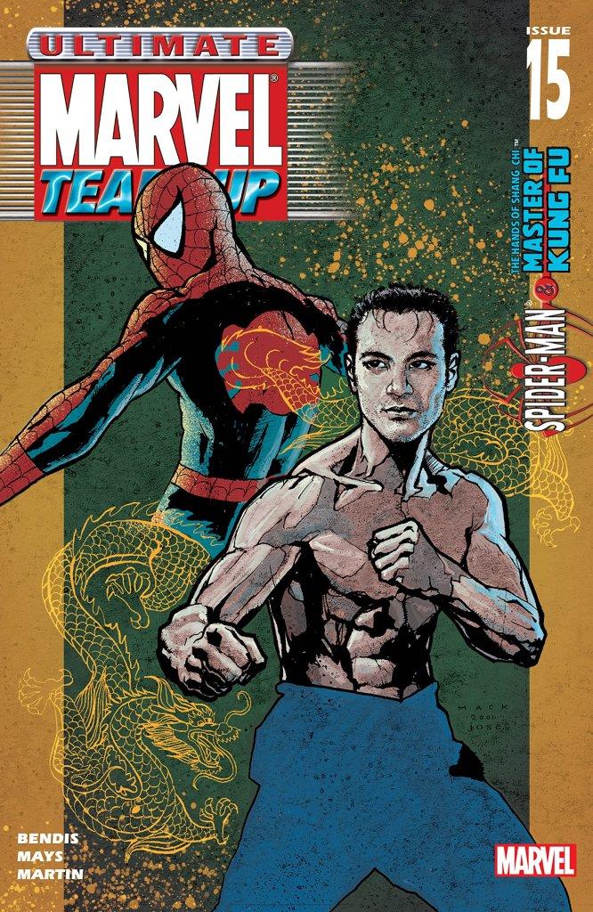 Spider-Man y Shang-Chi en la portada de Ultimate Marvel Team-Up #15 (junio de 2002). Imagen: comiXology