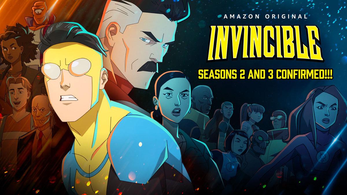 La confirmación de las temporadas 2 y 3 de Invincible en Amazon Prime Video. Imagen: INVINCIBLE Twitter (@InvincibleHQ).