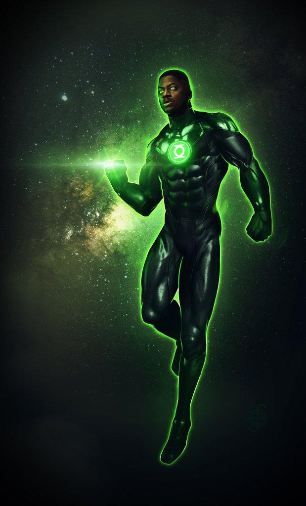 Green Lantern/John Stewart en arte conceptual de Zack Snyder's Justice League (2021). Imagen: Jojo Aguilar Twitter (@jojoaguilar33).