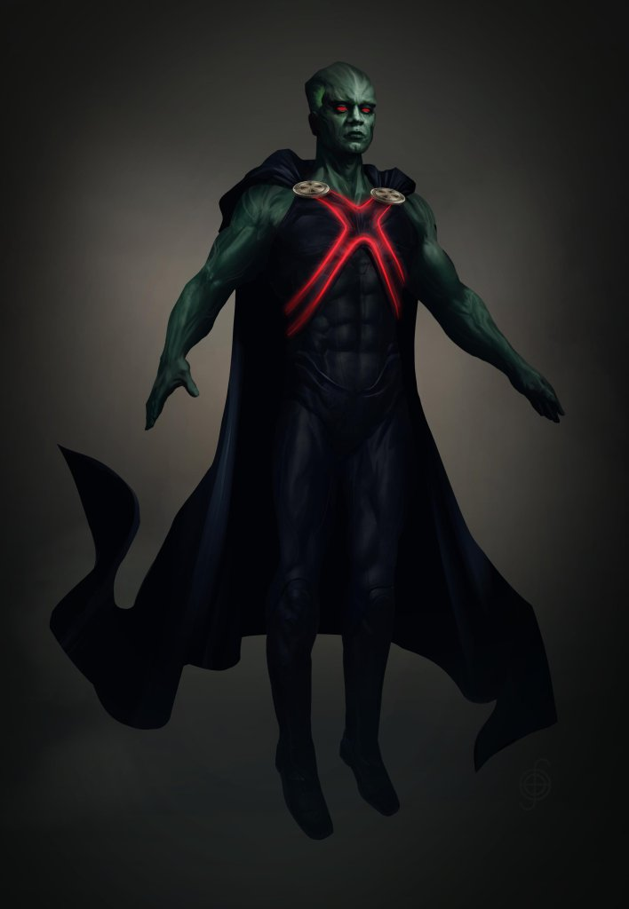 Martian Manhunter/J'onn J'onzz (Harry Lennix) en arte conceptual de Zack Snyder's Justice League (2021). Imagen: Jojo Aguilar Twitter (@jojoaguilar33).
